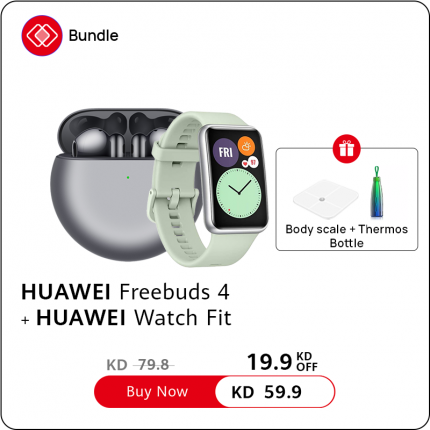 HUAWEI Freebuds 4 with Watch fit