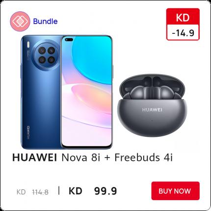 Huawei Nova 8i with Freebuds 4i