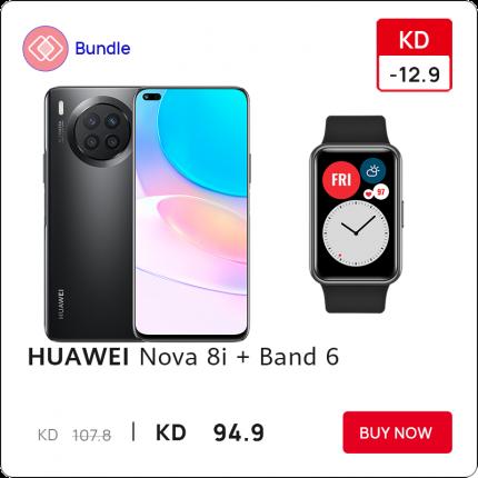 Huawei Nova 8i with Band 6
