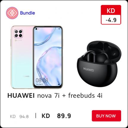 HUAWEI nova 7i and Freebuds 4i